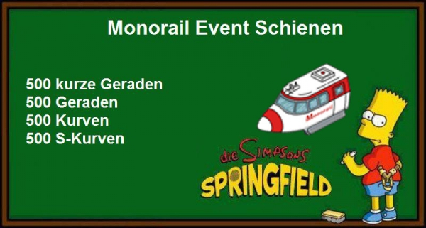 Monorail Schienen Pack