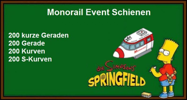 Monorail Schienen Pack mini